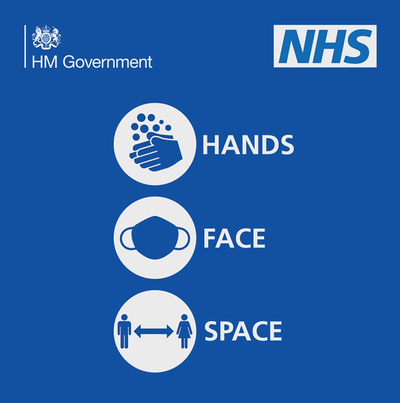 NHS Hands Face Space logo